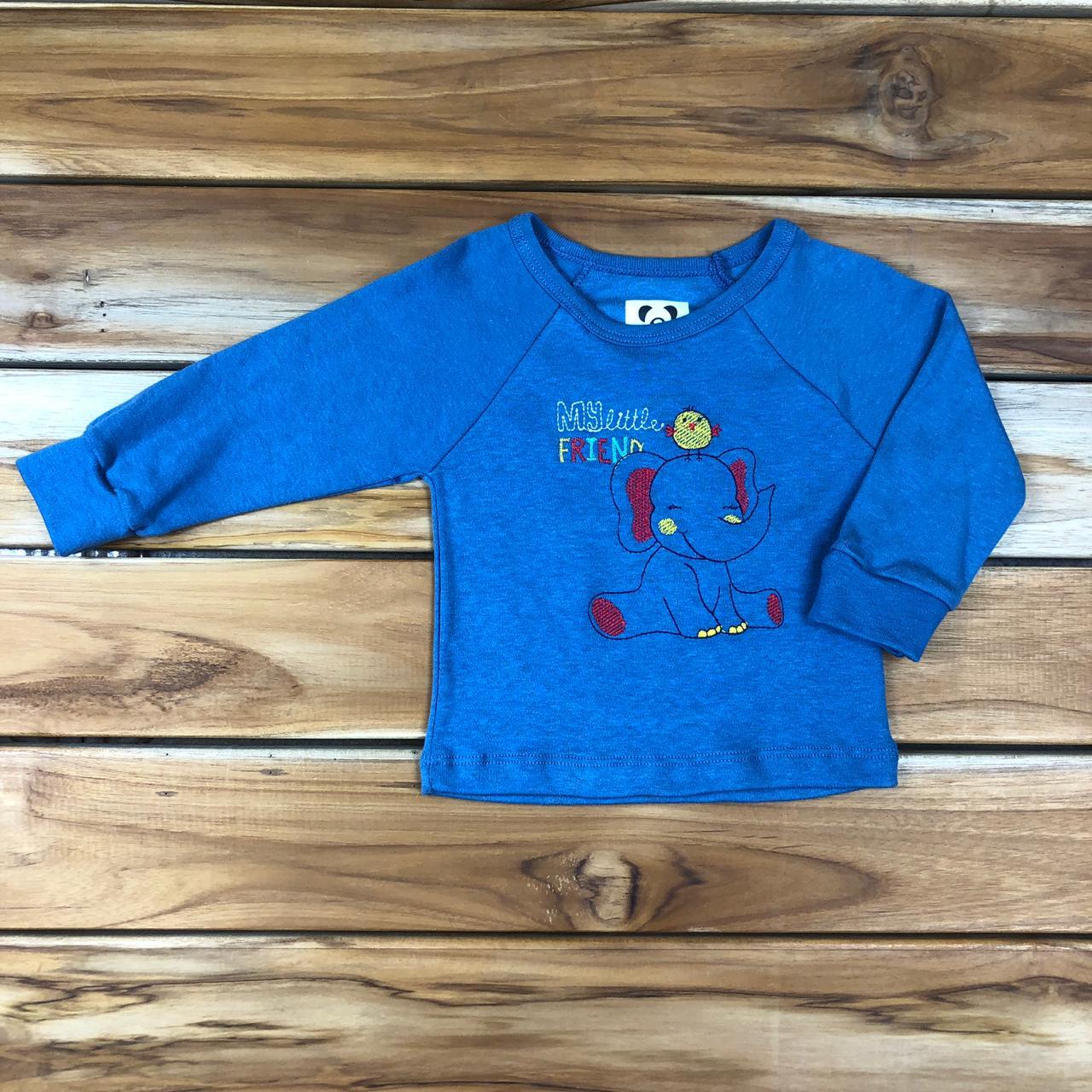 Camiseta Longa bebê Azul