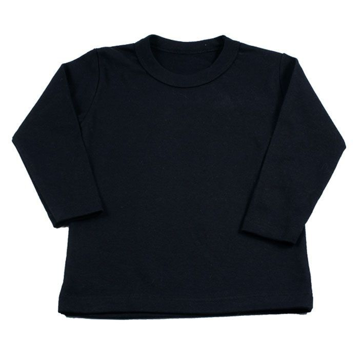 Camiseta Longa Infantill Preta