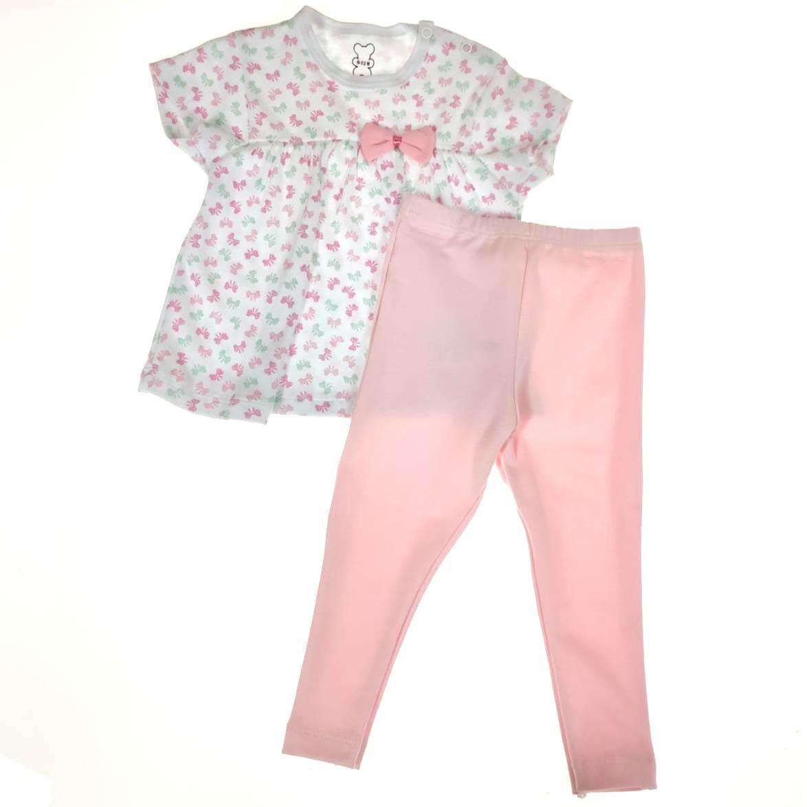 Conjunto Bebê Camiseta e Calça Laço