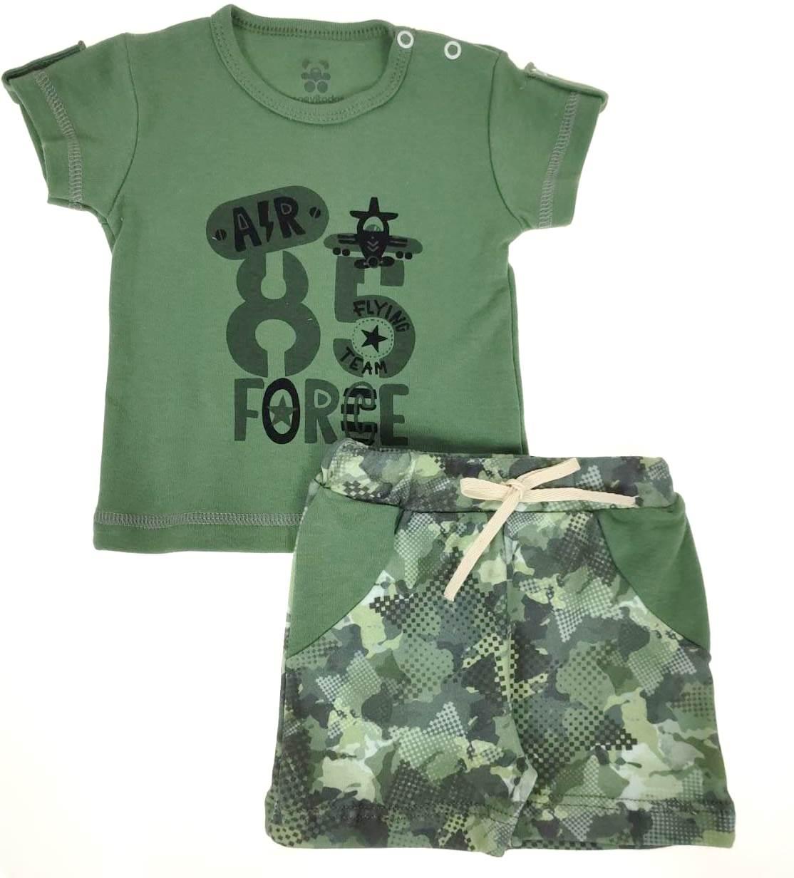 Conjunto Bebê Verde Militar 85 Force