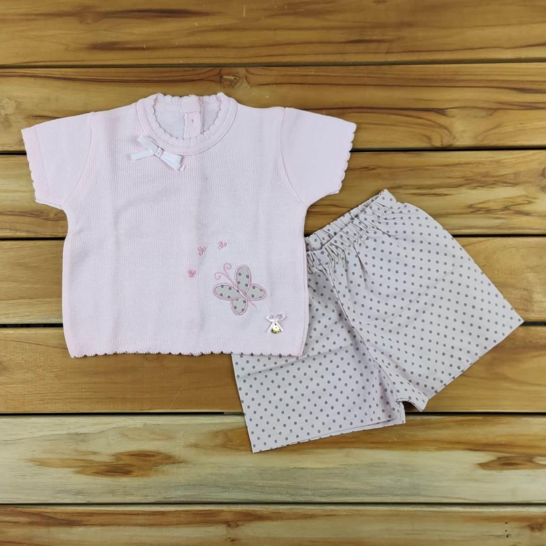 Conjunto Blusa em Tricô e shorts