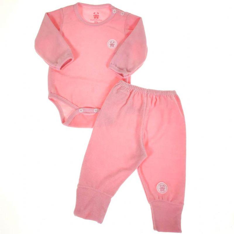 Conjunto Body e Calça Rosa de Plush