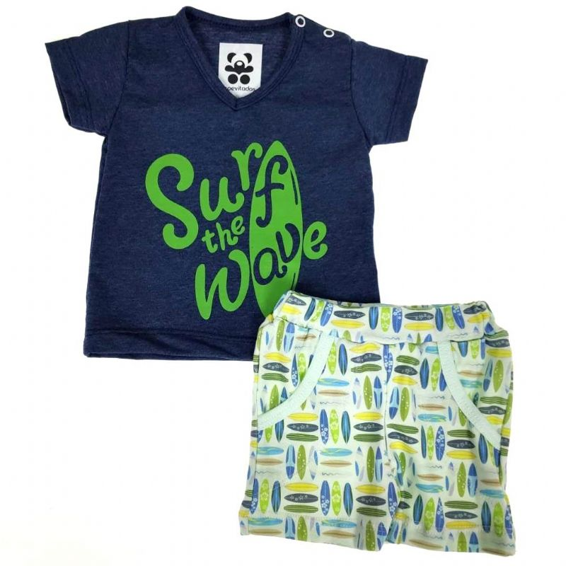 Conjunto Curto Azul Surf