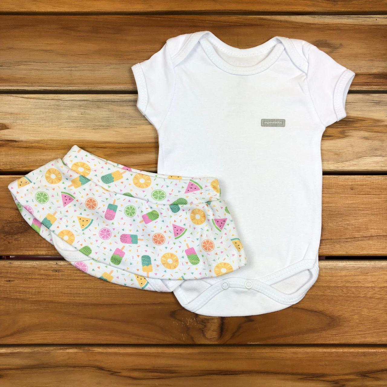 Conjunto Curto bebê Branco