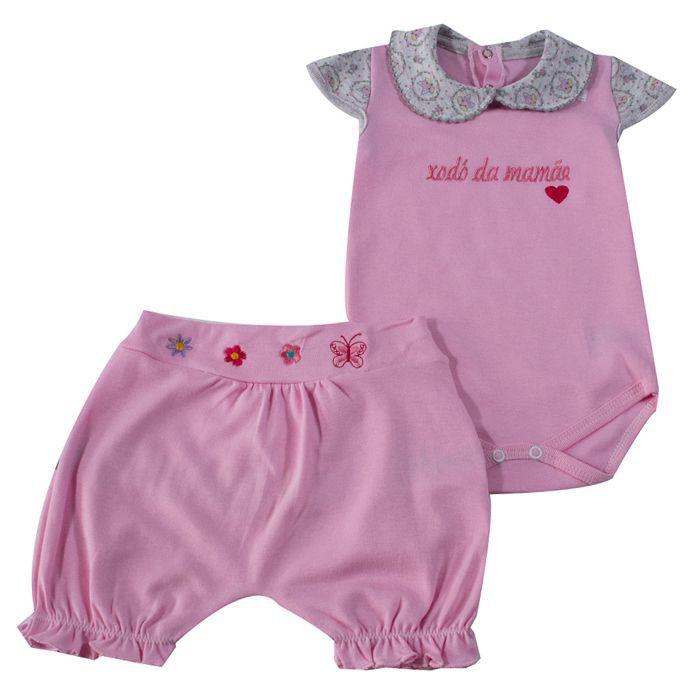 Conjunto Curto Baby Rosa