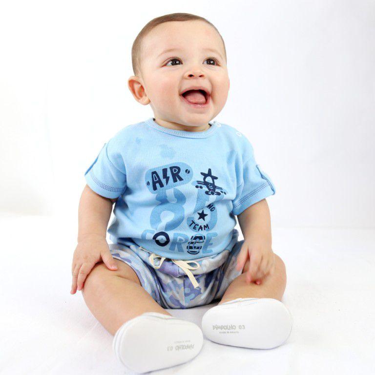 Conjunto Curto Bebê Azul
