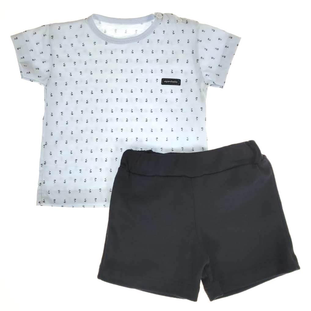 Conjunto Curto Camiseta e Shorts Estampa