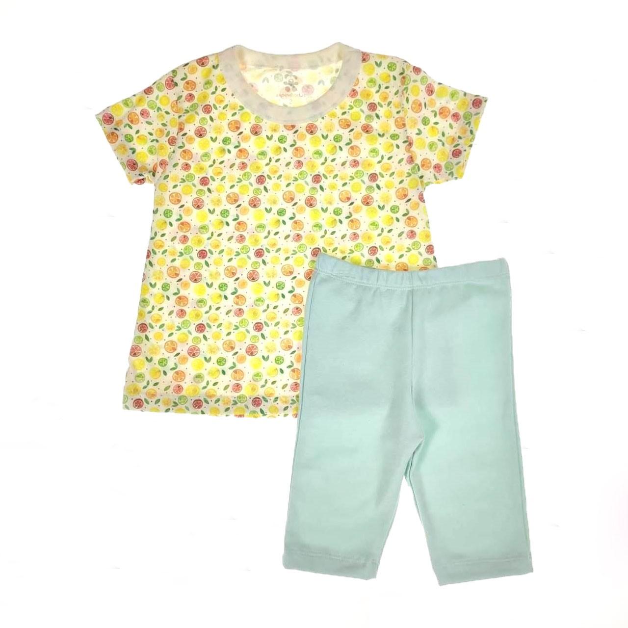 Conjunto Curto Infantil de Laranjinhas Coloridas