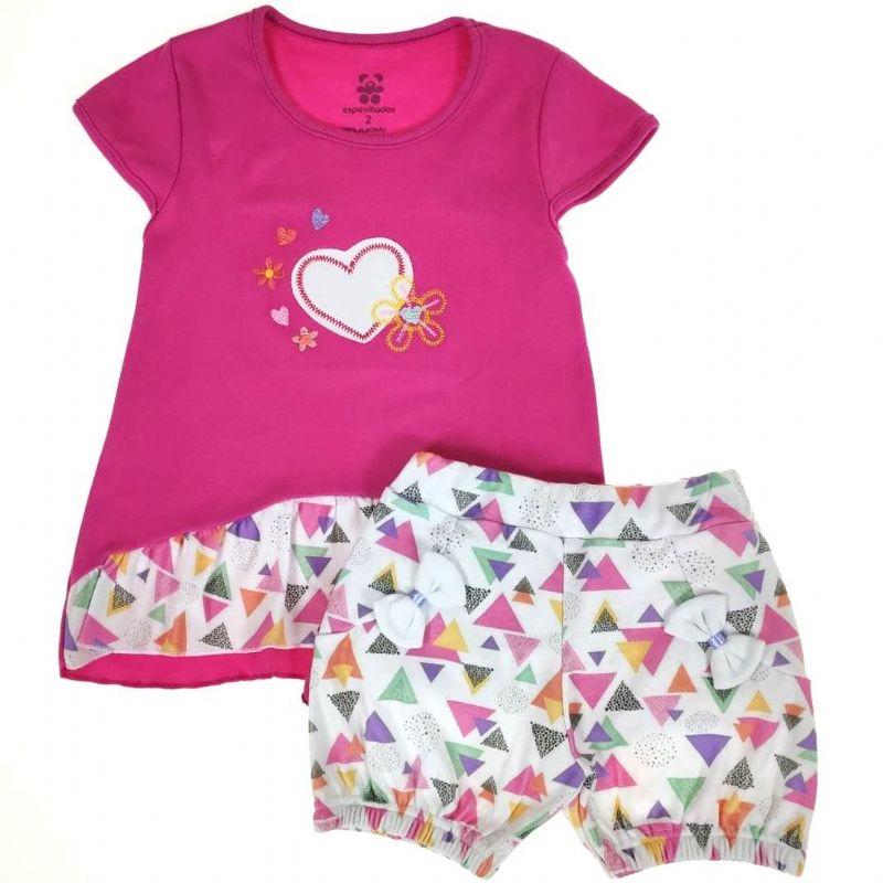 Conjunto Curto Infantil Pink