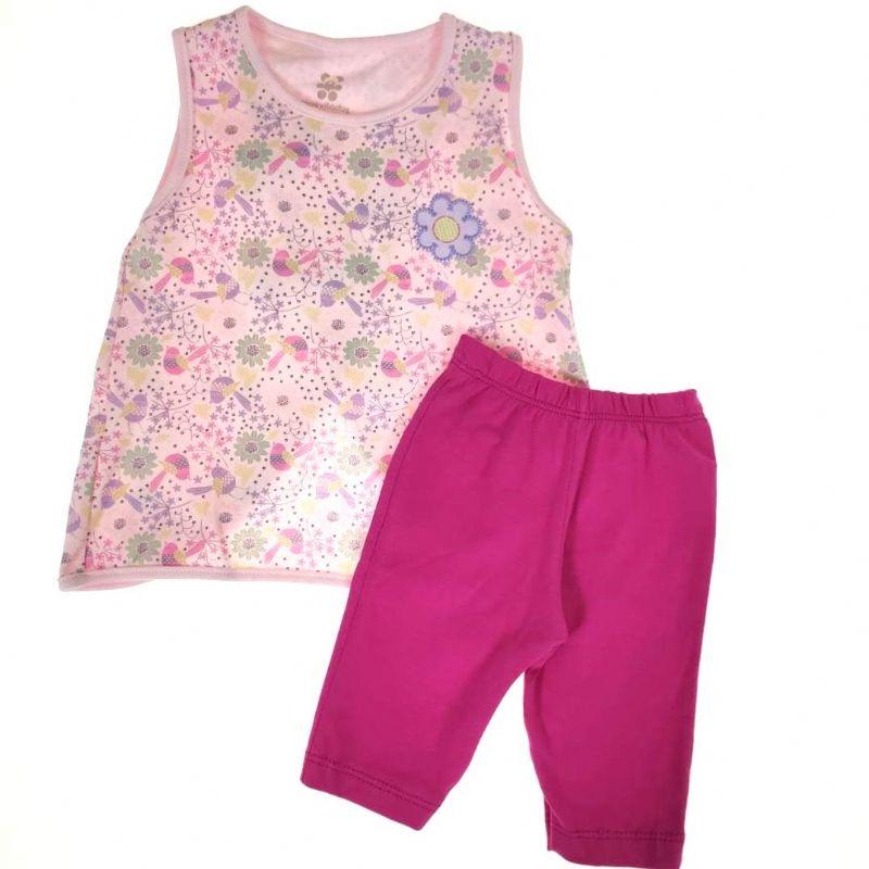 Conjunto Curto Infantil Rosa