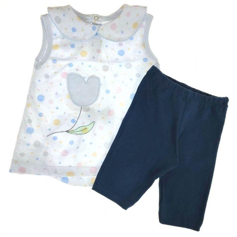 Conjunto Curto Infantill Azul