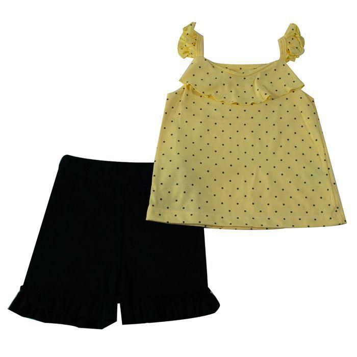 Conjunto Curto Infantil Amarelo
