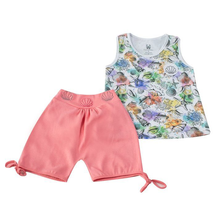 Conjunto Curto Kids Fundo Do Mar