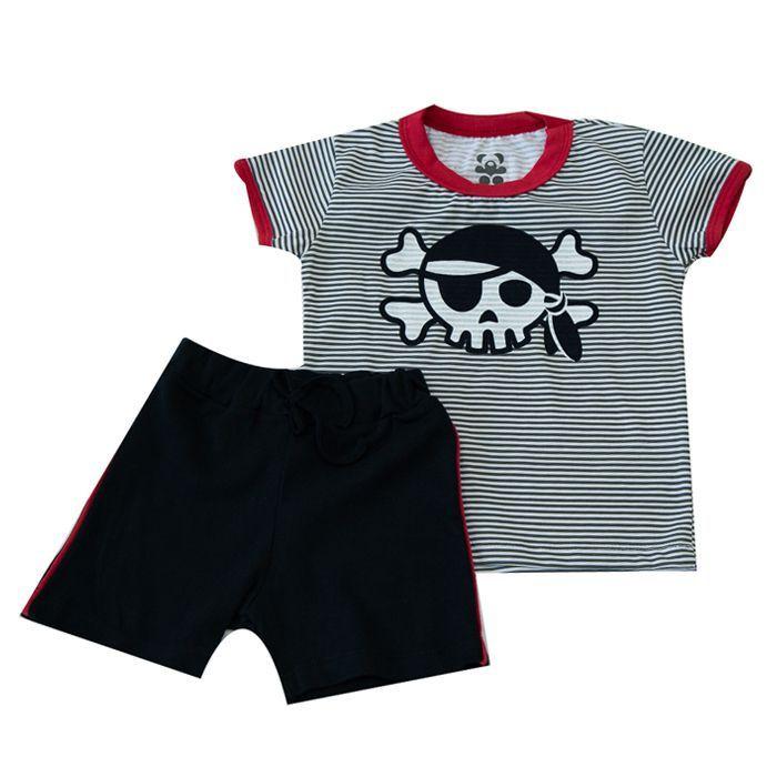 Conjunto Curto Infantill Temático Pirata