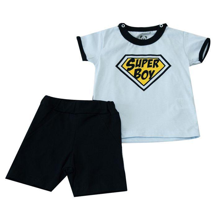 Conjunto Curto Infantil Temático Super Boy