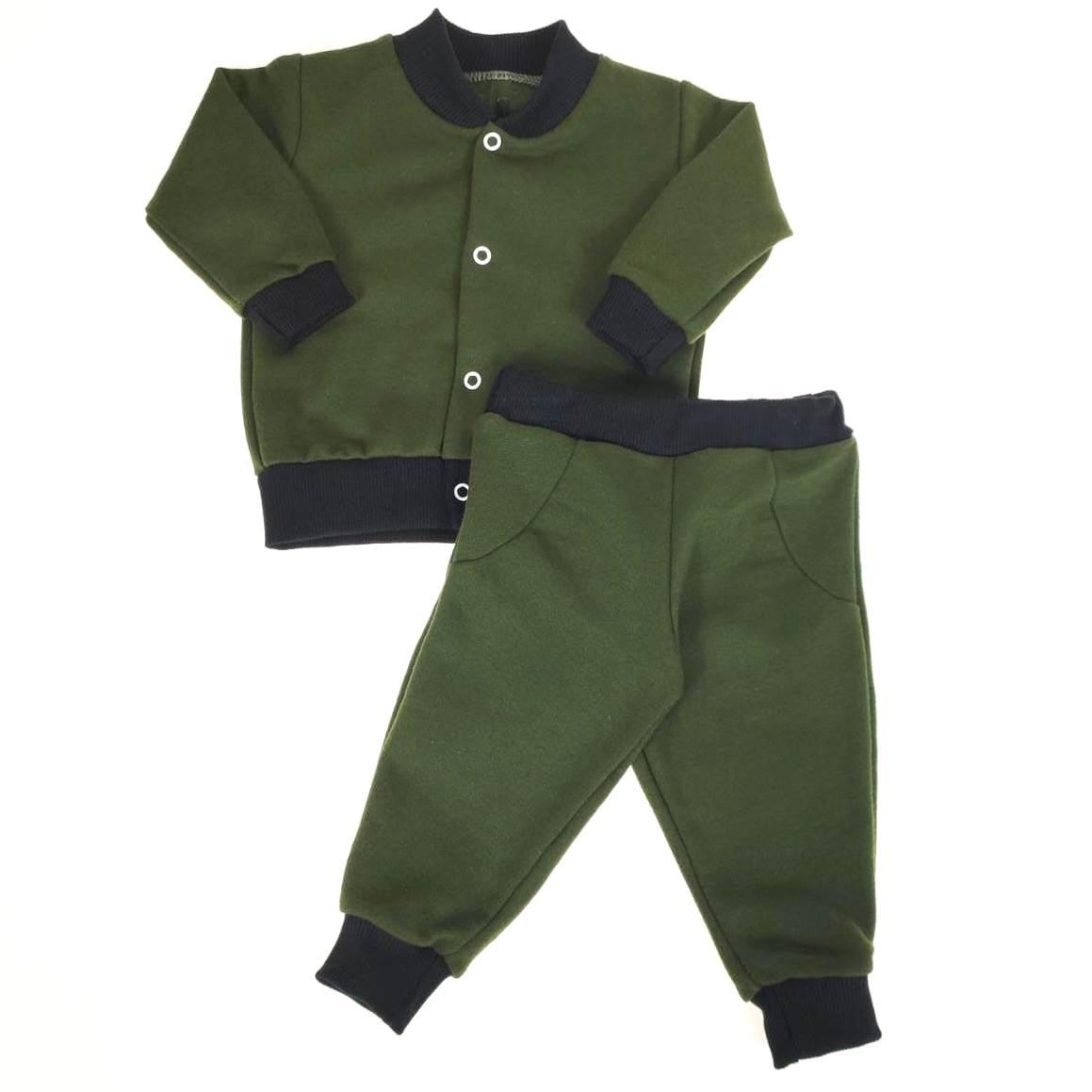Conjunto de Moletom Bebê Verde