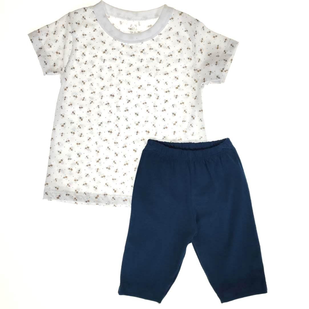 Conjunto Infantil Camiseta e Shorts Abelha