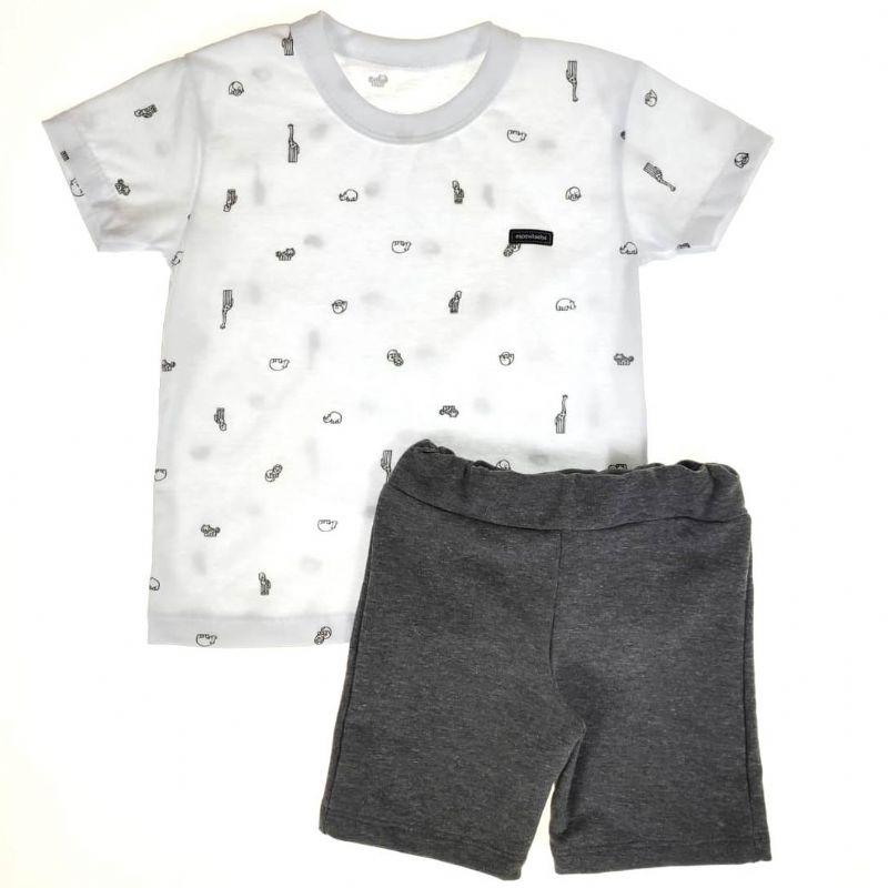 Conjunto Infantil Camiseta e Shorts Animais