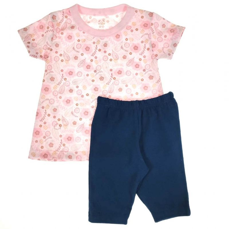 Conjunto Infantil Camiseta e Shorts Florido