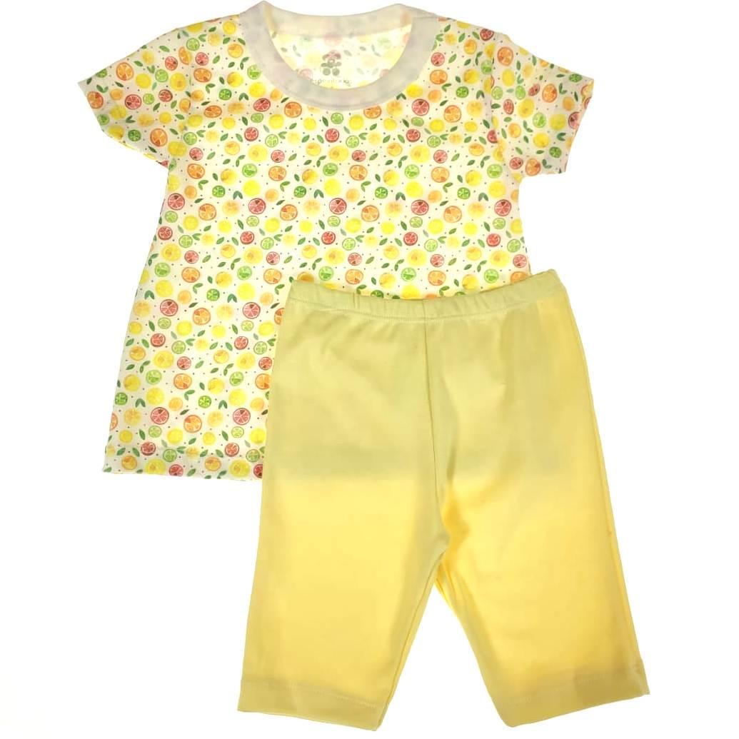 Conjunto Infantil Camiseta e Shorts Limão