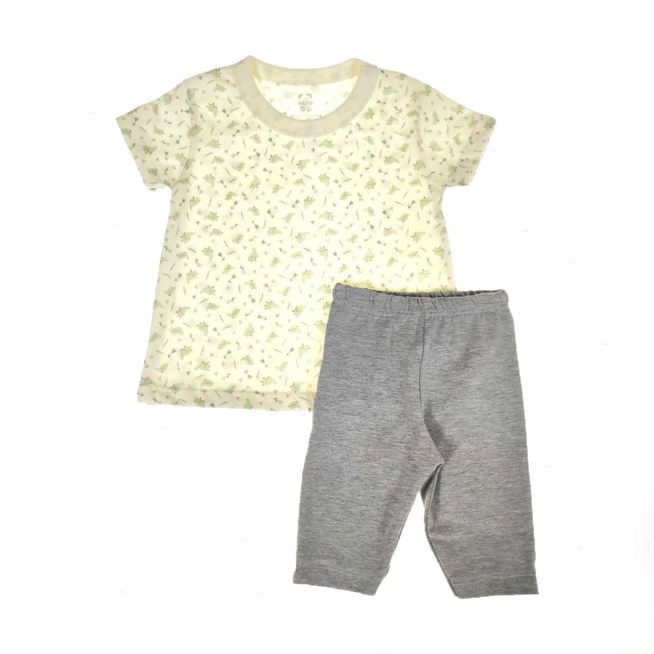 Conjunto Infantil Camiseta e Shorts Pássaros