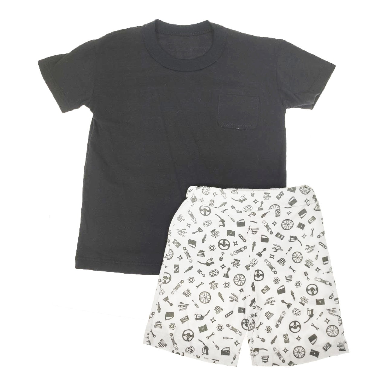 Conjunto Infantil Camiseta e Shorts Preto