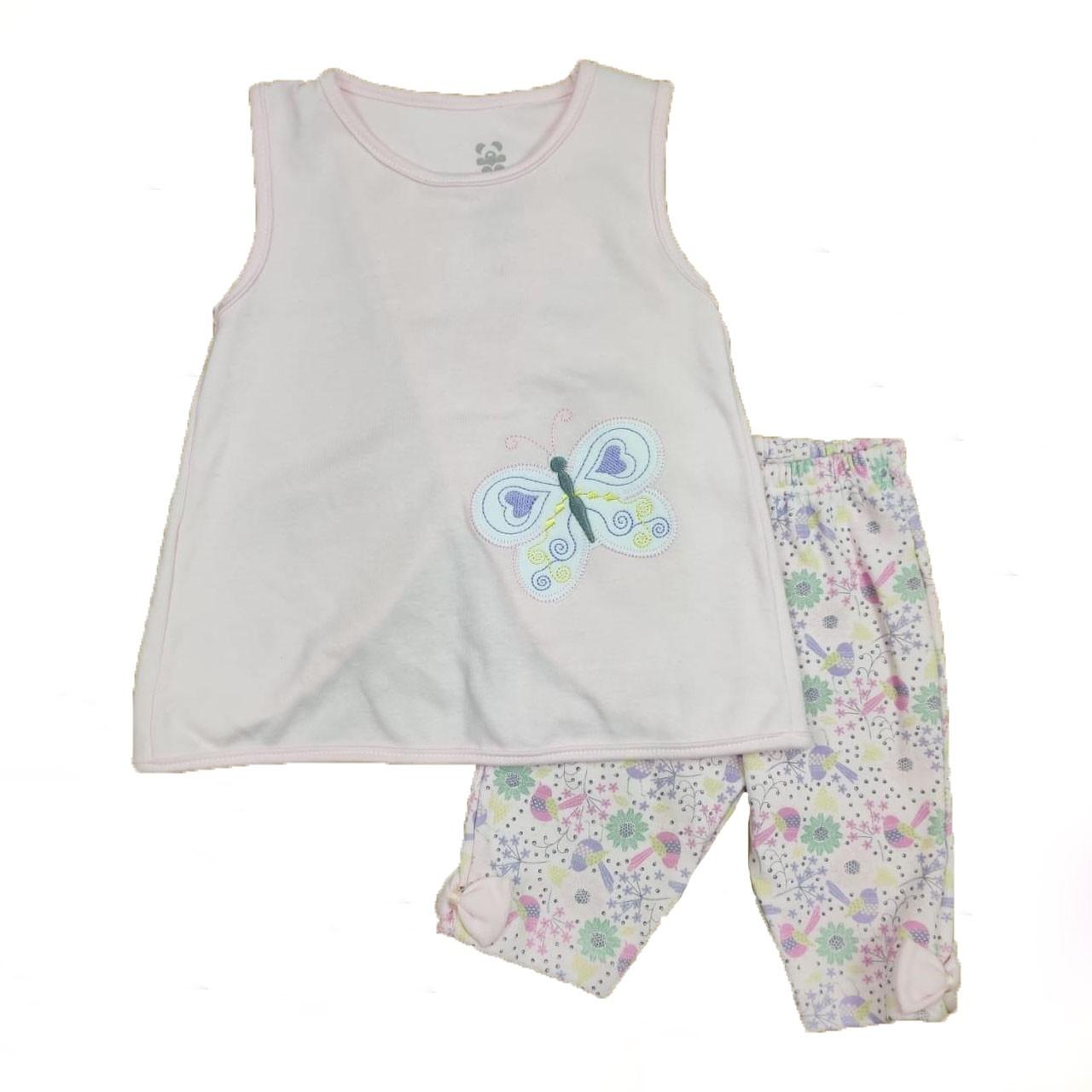 Conjunto Infantil Camiseta Regata e Shorts Rosa
