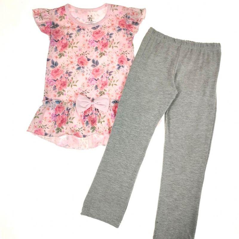 Conjunto Infantil Rosa Floral