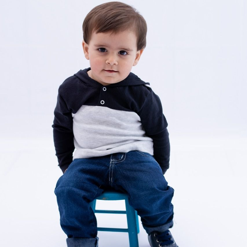 Conjunto Infantill Casaco e Calça Jeans