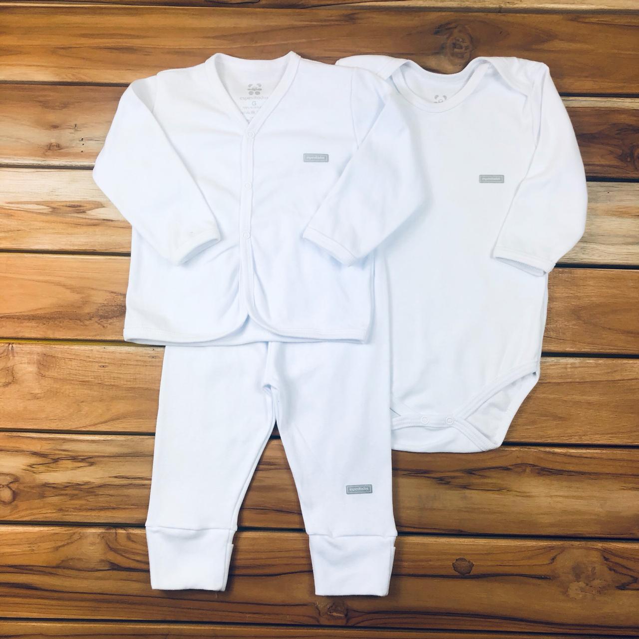 Conjunto Longo Bebê Branco