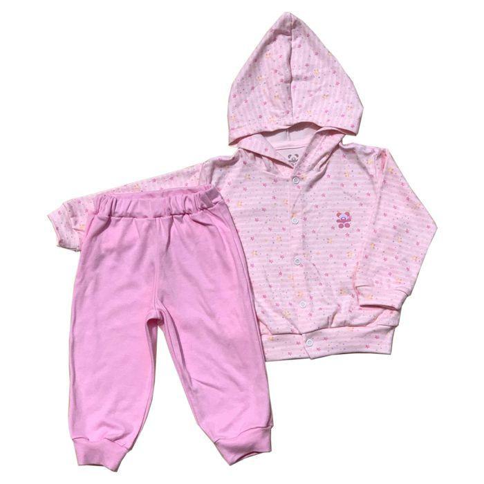 Conjunto Longo Bebê Rosa