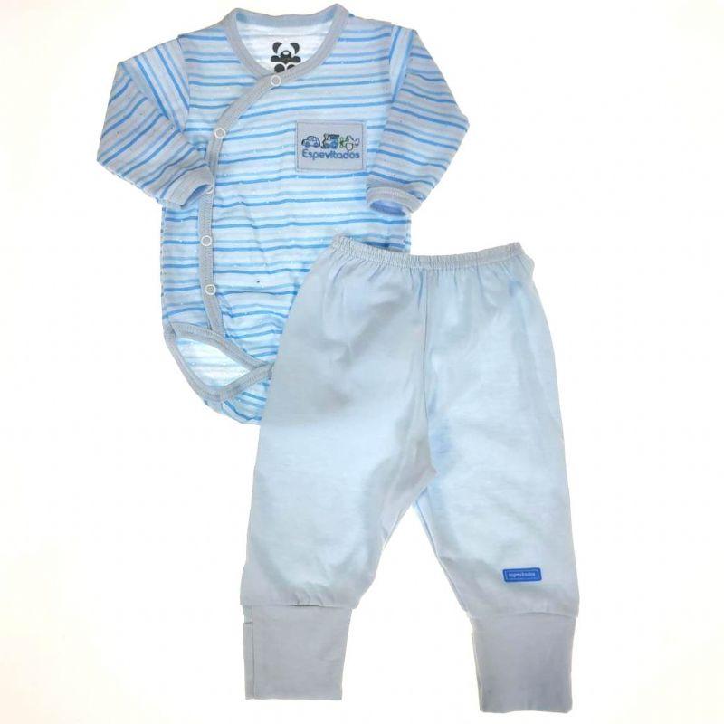 Conjunto Longo Bebê Azul