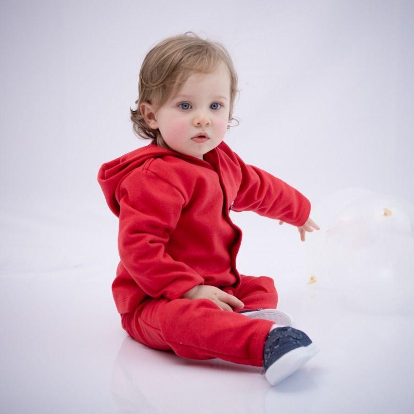 Conjunto Moletom Infantil Vermelho