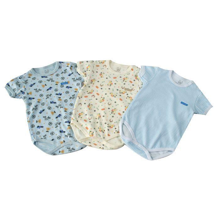 Kit Body Bebê 3 Peças Neutro