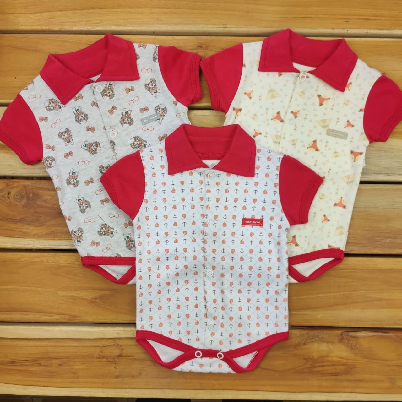 Kit Body Bebê 3 Peças Estampados