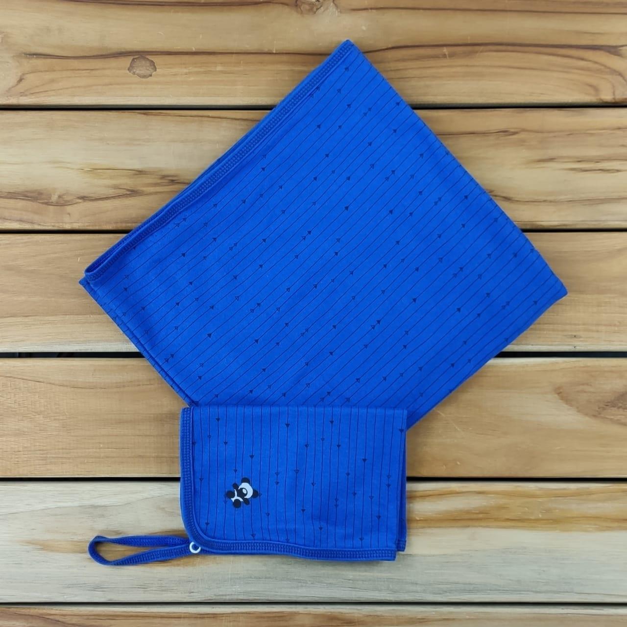 Kit Manta e Pano de Boca Azul de Flechas