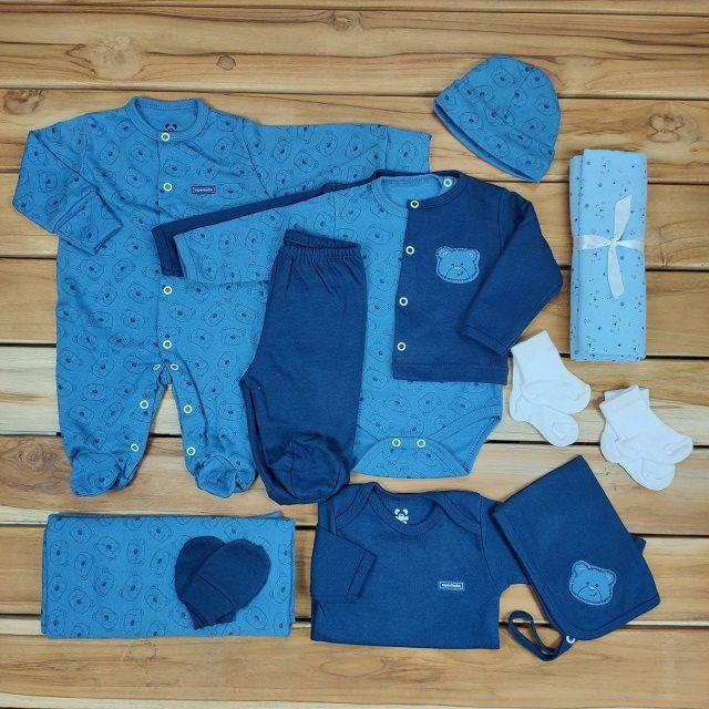 Kit Maternidade Azul - 12 Peças
