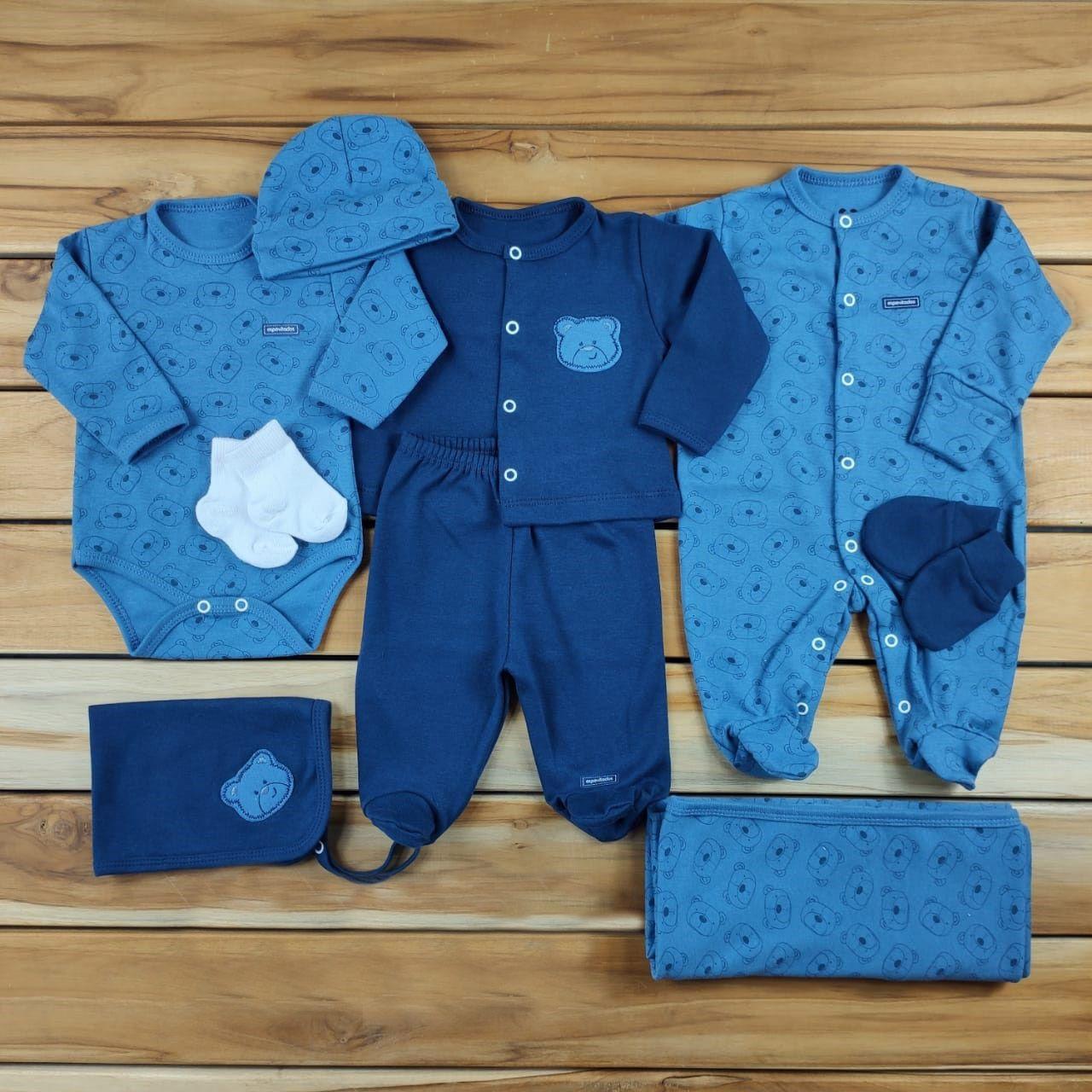 Kit Maternidade Azul - 9 Peças