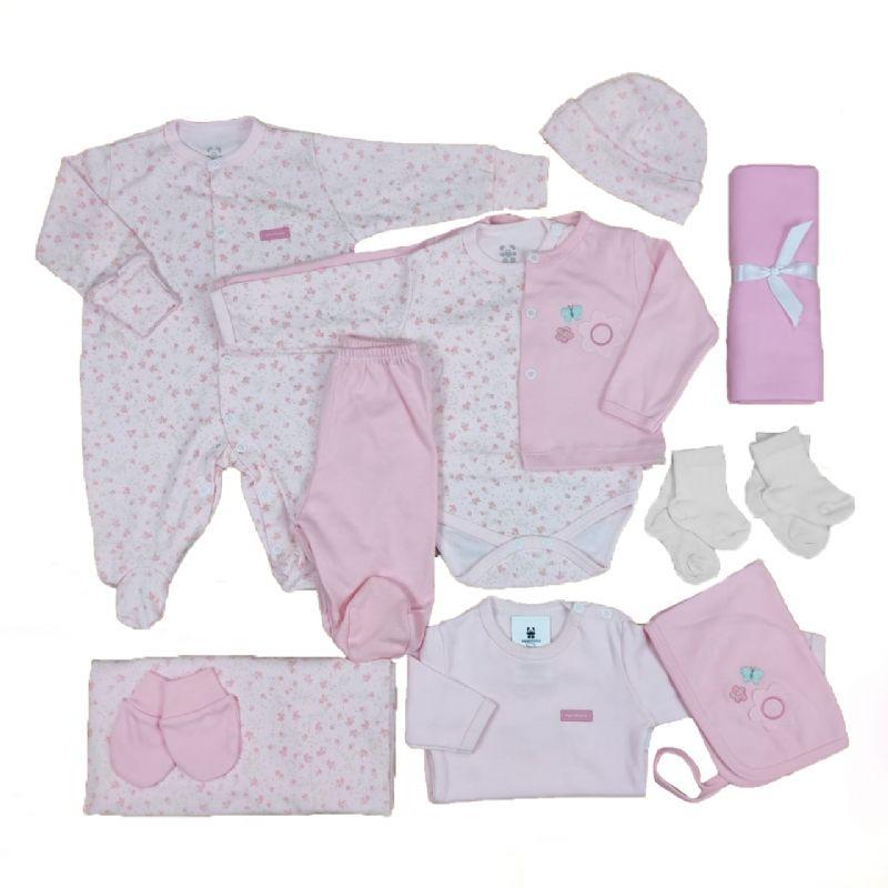 Kit Maternidade Rosa - 12 Peças