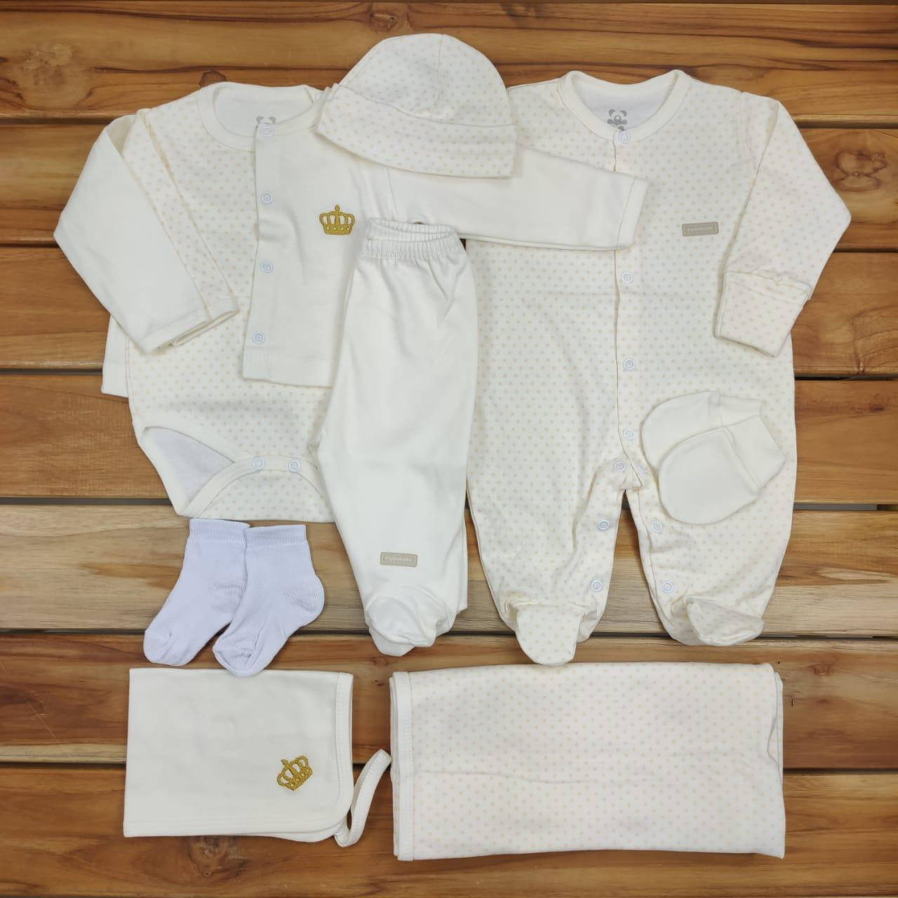 Kit Sáida Maternidade Cru - 9 Peças