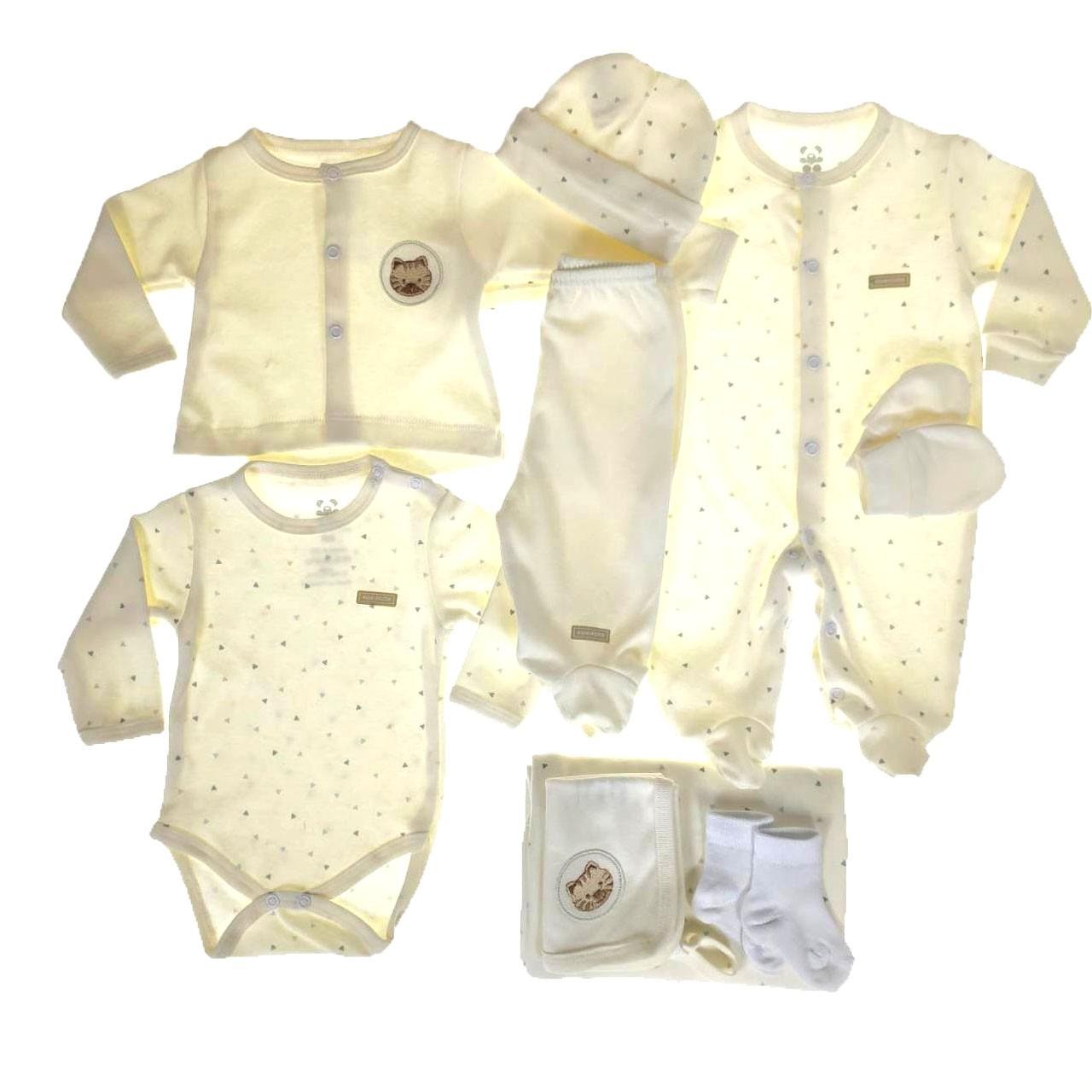 Kit Saída Maternidade Cru - 9 Peças