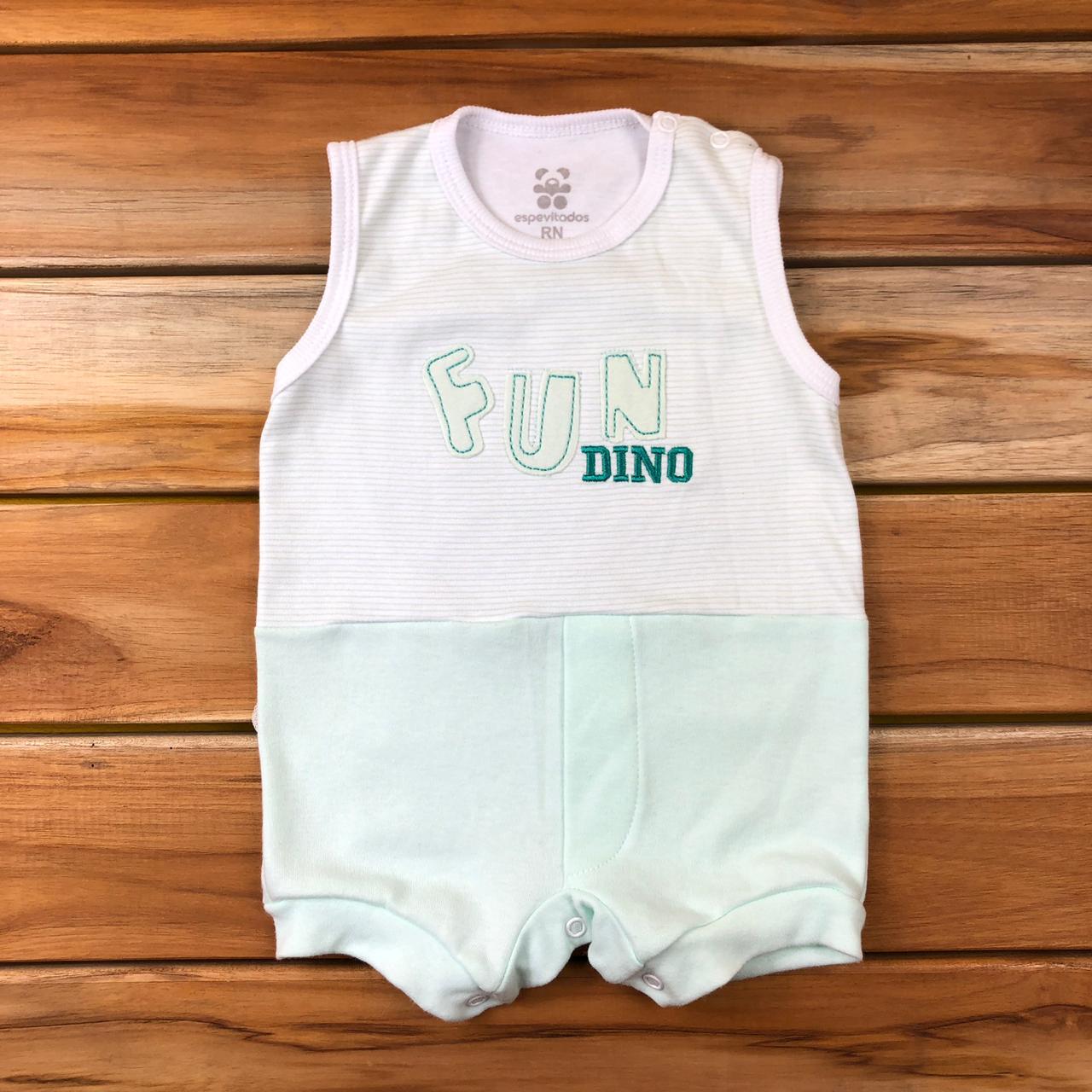 Macacão Curto Bebê Verde