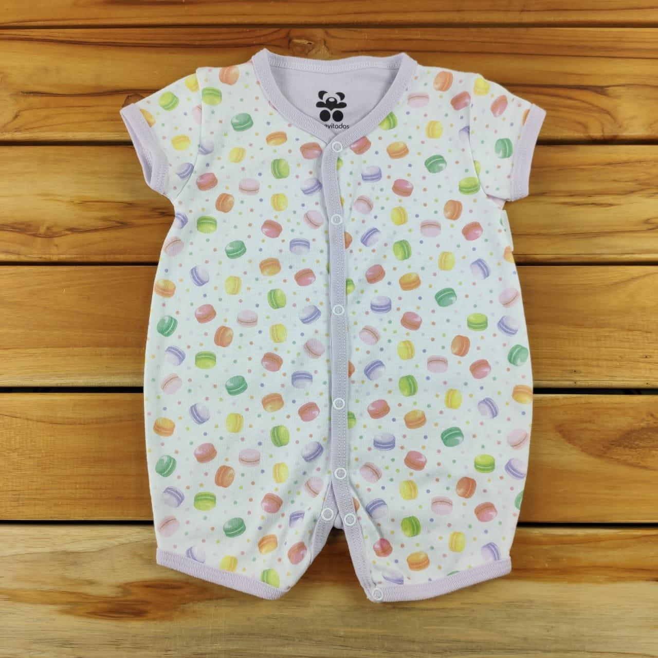 Macacão Curto Bebê Branco