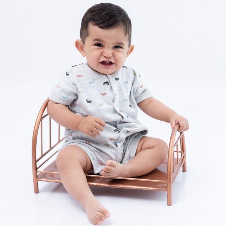 Macacão Curto bebê Mescla Camaleão