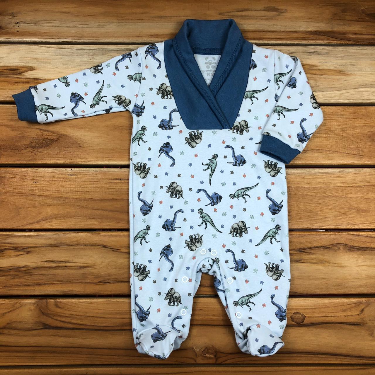 Macacão Longo Bebê Azul