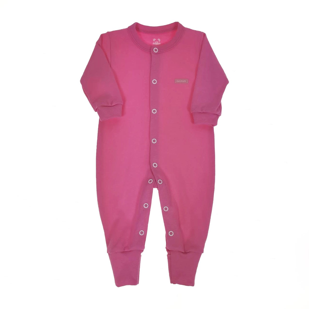 Macacão Longo Bebê Rosa Pink Liso