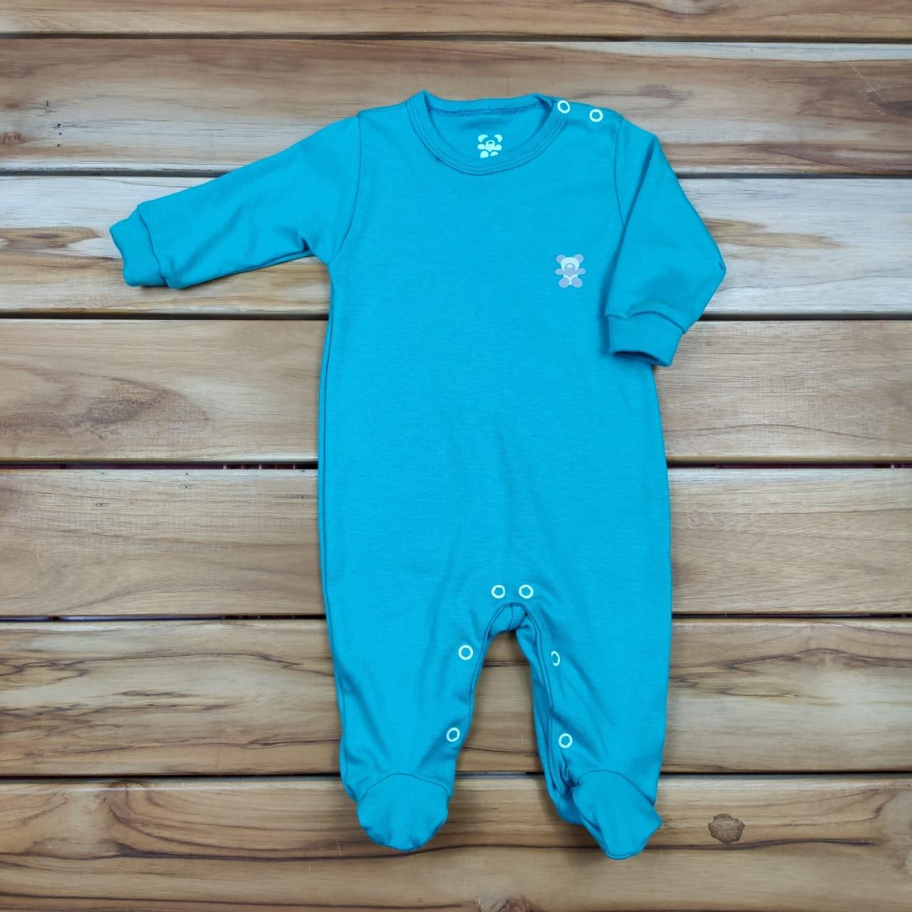 Macacão Longo Bebê Verde Liso