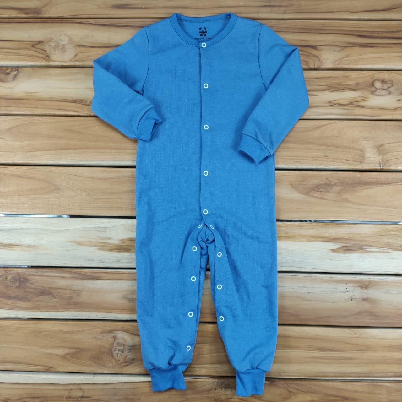 Macacão Longo Infantil Azul