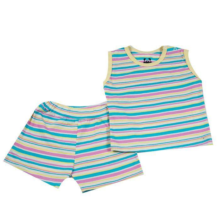 Pijama Curto Bebê Amarelo