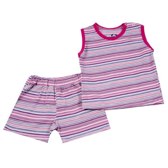 Pijama Curto Bebê Rosa